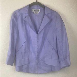 Carlisle Jacket Hook Closure Purple 3/4 Sleeve 6